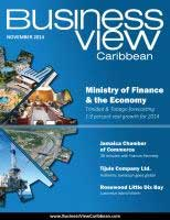 November 2014 cover of Business View Caribbean.