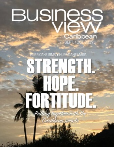 September 2017 Issue cover Business View Caribbean.
