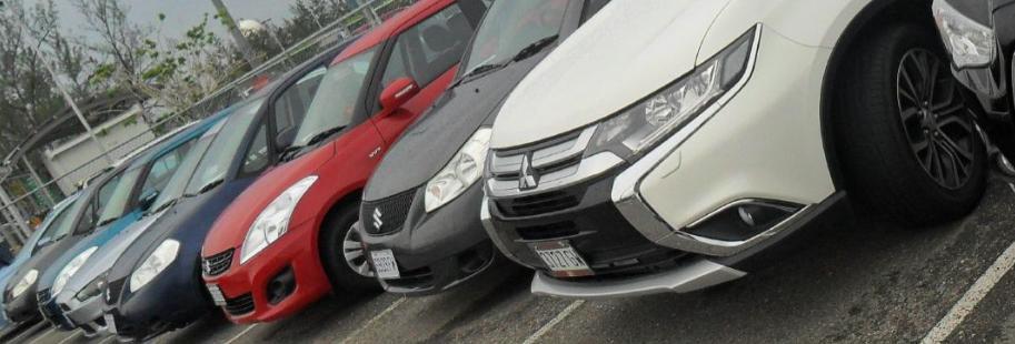 Budget Rent a Car Jamaica car lot.