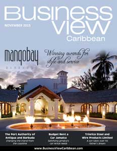 November 2015 issue cover of Business View Caribbean.