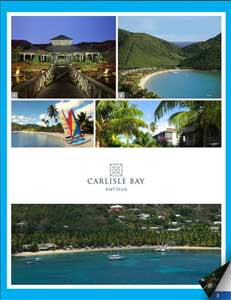 Carlisle Bay Resort brochure cover.