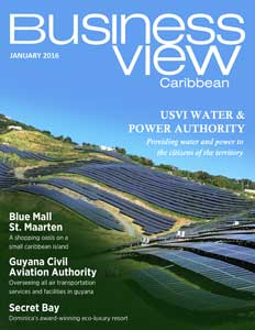 January 2016 Issue cover Business View Caribbean.