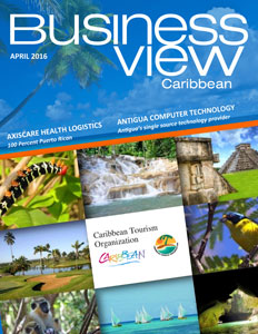 April 2016 issue cover of Business View Caribbean.