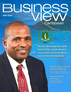 May 2016 issue cover for Business View Caribbean.