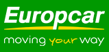 Europcar logo with text moving your way.