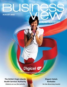 August 2016 Issue cover of Business View Caribbean.