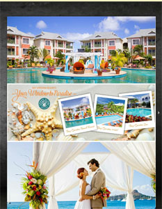 Bay Gardens Resorts brochure cover.