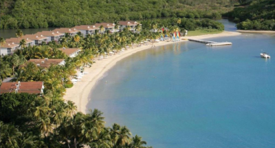 An aerial view of the Carlisle Bay Resort.