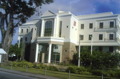 Ernst & Young Caribbean building, outside view of the front.
