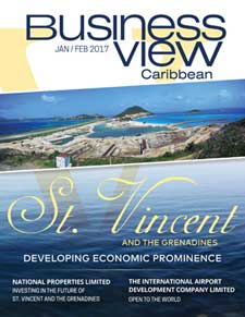 Business View Caribbean cover for the January 2017 issue, featuring St. Vincent.
