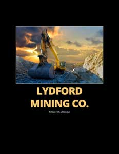Lydford Mining Co. Brochure cover with an excavator pictured.