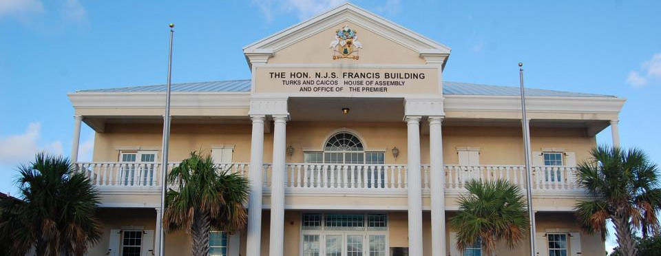 Front view of the House of Assembly and Office of the Premier of Turks & Caicos
