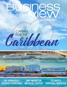 August 2017 issue cover for Business View Caribbean.