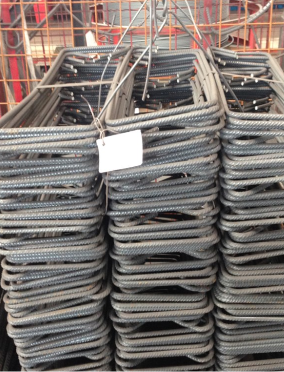A stack of rebar pieces.