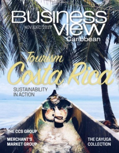 November 2017 issue cover for Business View Caribbean.