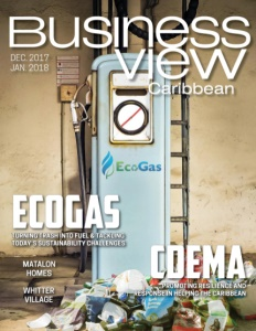 December 2017 issue cover of Business View Caribbean.