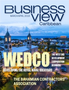 Business View Caribbean March 2018 issue cover featuring WEDCO.