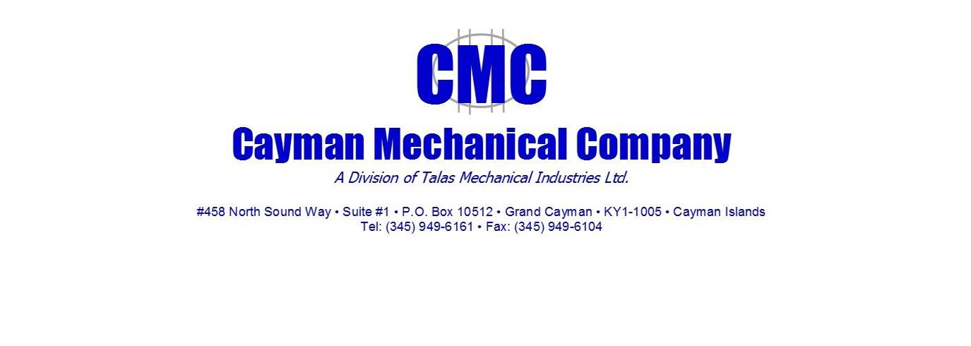 CMC, Cayman Mechanical Company logo.