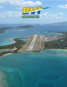 British Virgin Islands Airports Authority brochure cover.