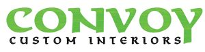 Convoy Custom Interiors logo, Convoy in large colored text at the top with Custom Interiors smaller below.