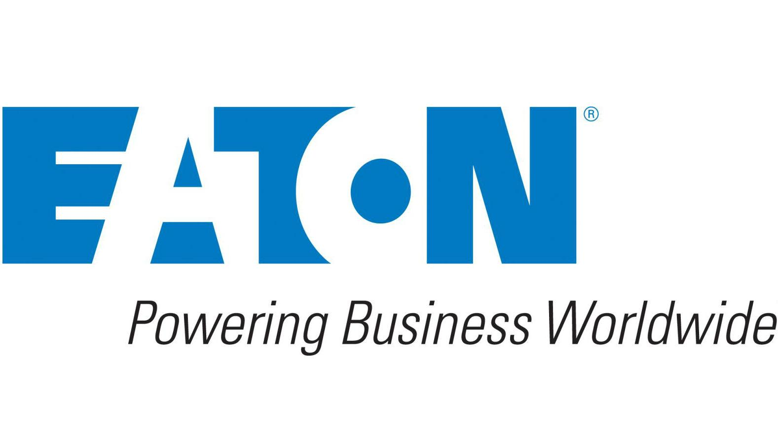 Eaton Corporation logo with the tagline Powering Business Worldwide