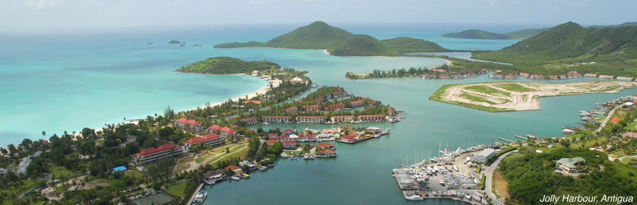 Antigua and Barbuda Port Authoirty, Antigua Jolly Harbour aerial view.