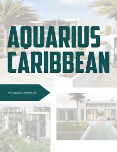 Aquarius Caribbean brochure cover.