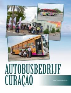 Autobusbedrijf Curacao brochure cover.