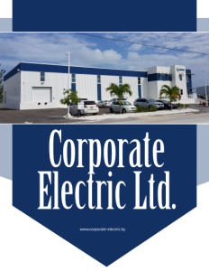 Corporate Electric Ltd. brochure cover showing their building.