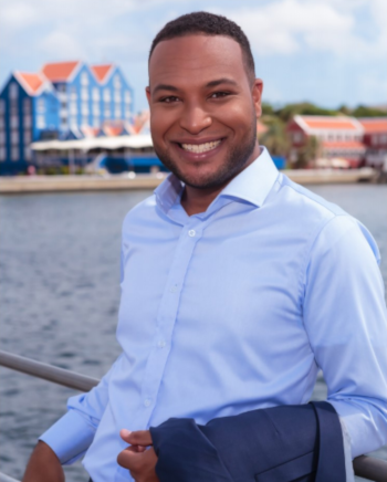 A photo of Miles Mercera, the Curacao Hospitality Tourism Association President.