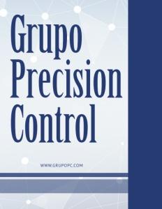 Grupo Precision Control brochure cover.