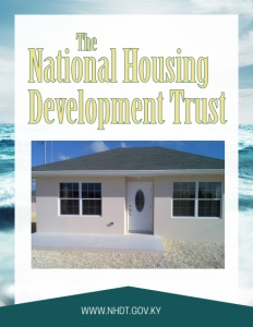 National Housing Development Trust brochure cover, showing a newly built home.