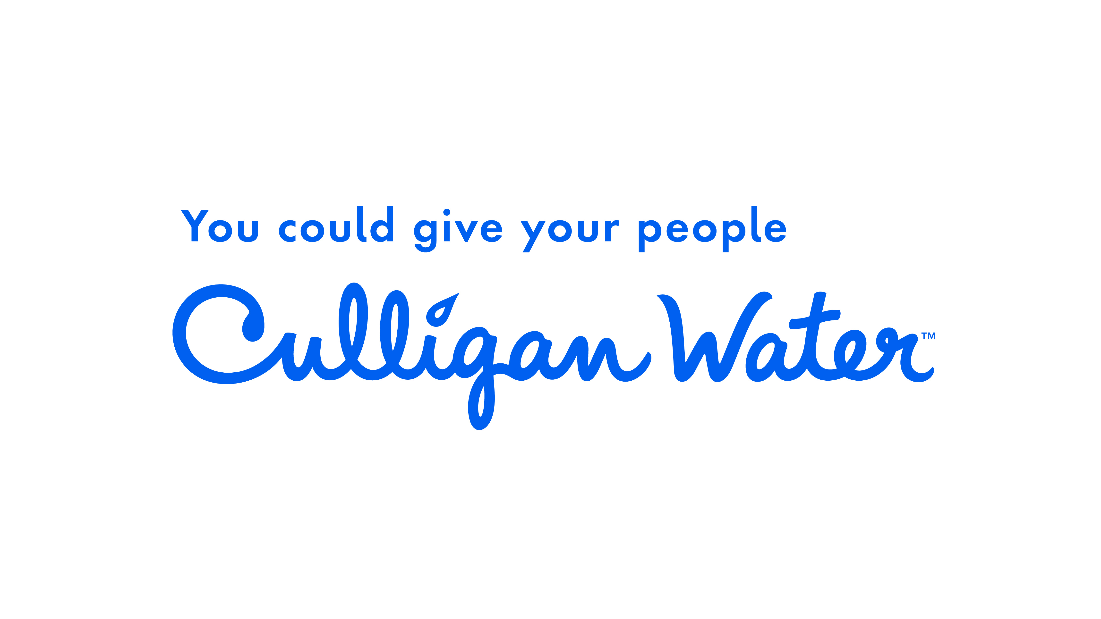 You could give your people Culligan Water; logo.