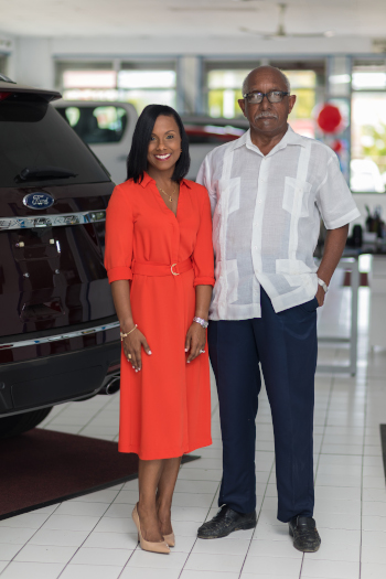 Ewalt Harney, Managing Director and Dyna Harney Barnes, General Manager of Harney Motors.
