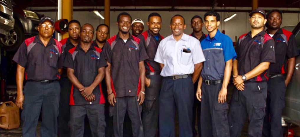 Harney Motors Ltd. Antigua. Group photo of staff.
