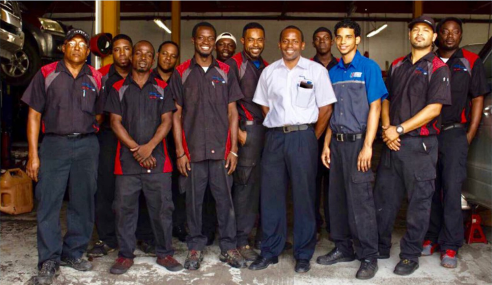 Harney Motors staff group photo.