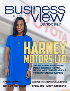 August 2018 issue cover of Business View Caribbean.