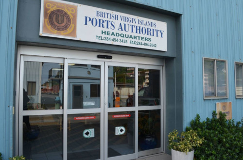 British Virgin Islands Ports Authority headquarters building.