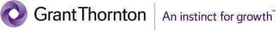 Grant Thornton logo with text saying An instinct for growth.