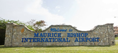 The Grenada Airports Authority, welcome sign for the Maurice Bishop International Airport.