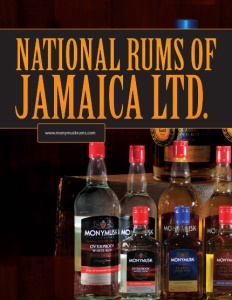 National Rums of Jamaica Ltd. brochure cover.