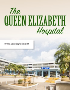 Queen Elizabeth Hospital brochure cover.
