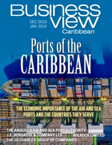 October 2018 issue cover of Business View Caribbean.