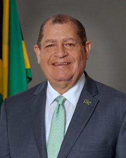 Minister Audley Shaw for the Ministry of Industry, Commerce, Agriculture and Fisheries Jamaica.