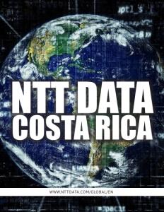 NTT Data Costa Rica brochure cover.