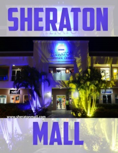 Sheraton Mall brochure cover.