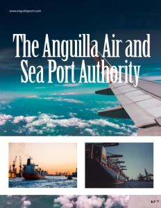 The Anguilla Air and Sea Port Authority brochure cover.