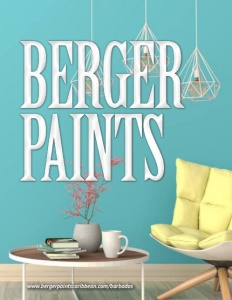 Berger Paints Barbados Limited brochure cover.