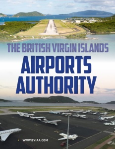 The British Virgin Islands Airports Authority brochure cover.