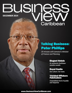 December 2014 issue cover for Business View Caribbean.